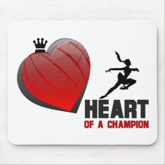 Heart of a Champion Ice Skating Mouse Pad