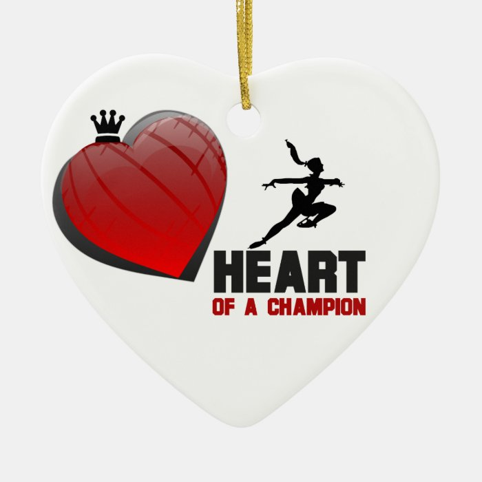 Heart of a Champion Ice Skating Ornament