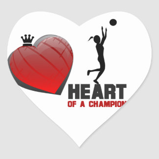 Heart of a Champion Ladies Basketball Stickers