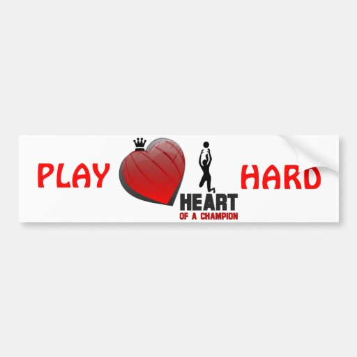 Heart of a Champion Ladies Volleyball Bumper Stickers
