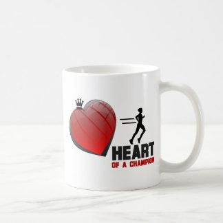 Heart of a Champion Running Coffee Mug