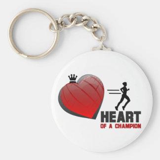 Heart of a Champion Running Keychain
