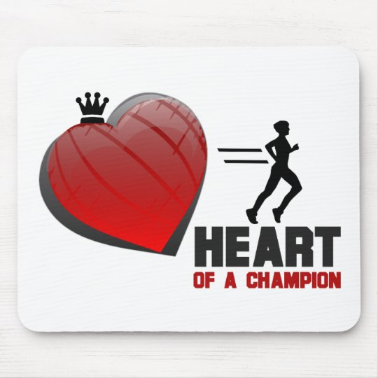 Heart of a Champion Running Mouse Pad