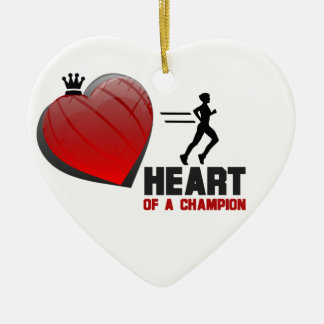 Heart of a Champion Running Ornament