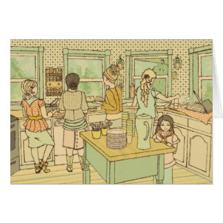 Heart of a Home is the Kitchen | Note Card