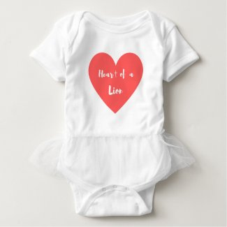 Heart of a Lion Baby Bodysuit
