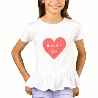 Heart of a Lion Girls Shirt