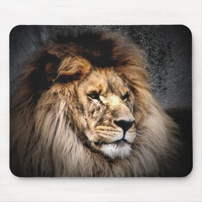heart of a lion mouse pad
