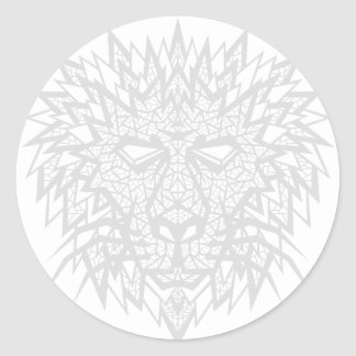 Heart of a Lion - Sticker - White/Gray
