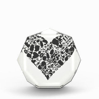 Heart of a part of a body award