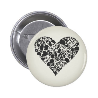 Heart of a part of a body pinback button