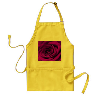 Heart Of A Purple Rose Adult Apron