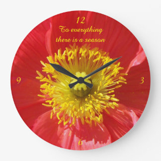 Heart of a Red Poppy Clock
