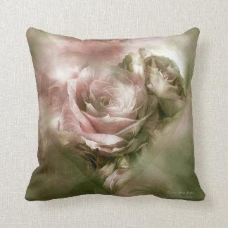 Heart Of A Rose-Antique Pink Art Decorator Pillow