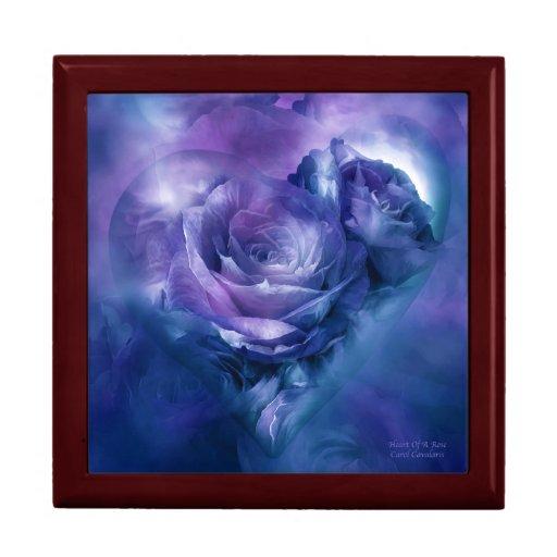 Heart Of A Rose-Lavender Blue Art Giftbox Trinket Box