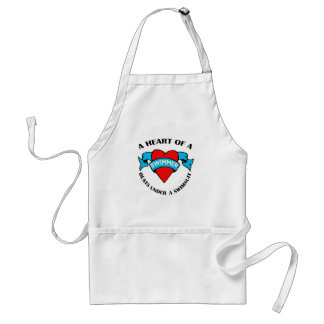 Heart of a Swimmer Adult Apron