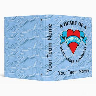 Heart of a Swimmer 3 Ring Binder