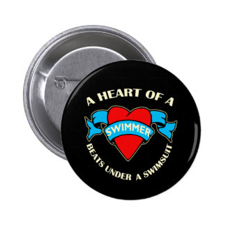Heart of a Swimmer Buttons