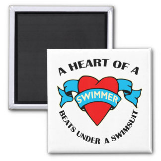 Heart of a Swimmer Magnets