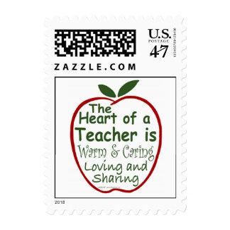 Heart of a Teacher Postage