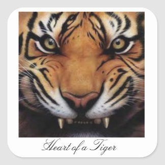 Heart of a Tiger Stickers