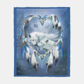 Heart Of A Wolf 3 Art Blanket