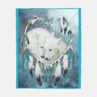 Heart Of A Wolf Art Fleece Blanket