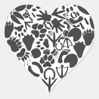 Heart of an animal heart sticker