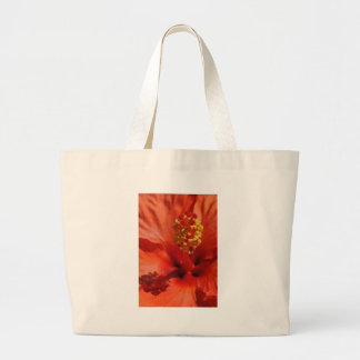 Heart of An Orange Hibiscus Flower Tote Bag