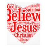 Heart of believe custom letterhead