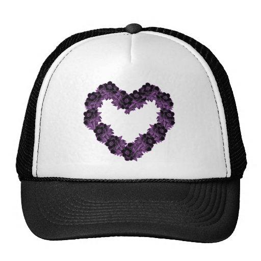 Heart of Black Flowers Trucker Hat