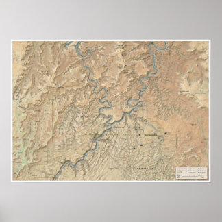 Heart of Canyonlands (Utah) map poster