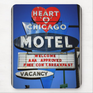 Heart of Chicago Motel Mouse Pad