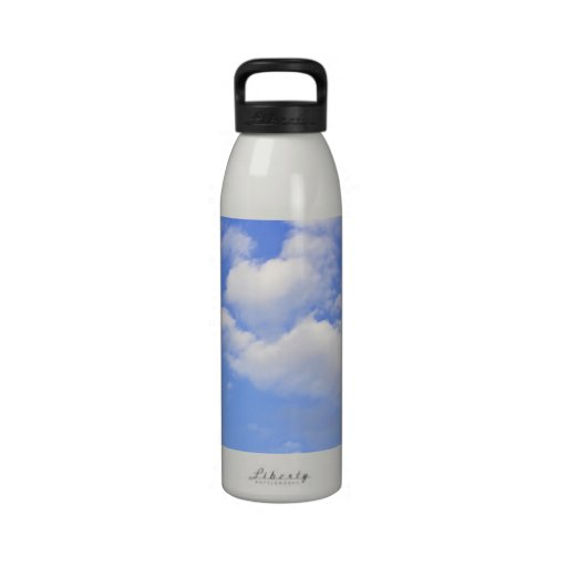 Heart of clouds Water Bottles