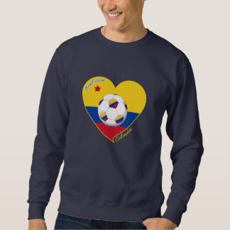 Heart of COLOMBIA SOCCER and national flag 2014 Sweatshirt