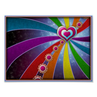 Heart of colors poster