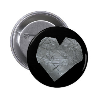 Heart of Duct Tape Pinback Button