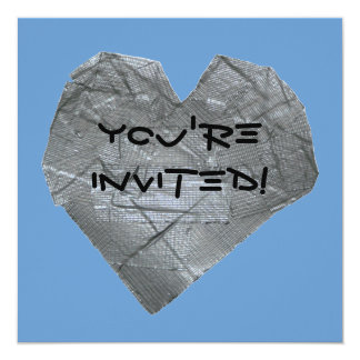 Heart of Duct Tape 5.25x5.25 Square Paper Invitation Card