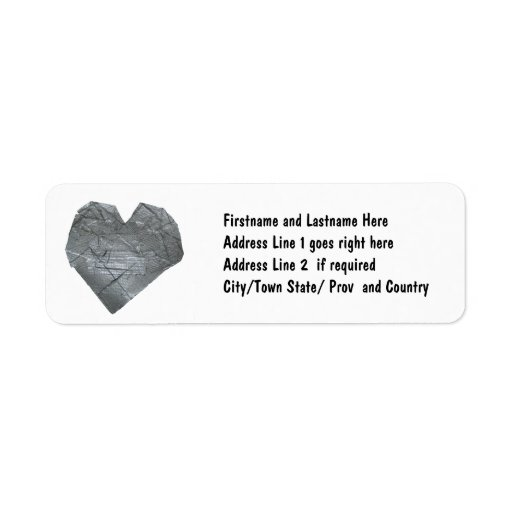 Heart of Duct Tape Custom Return Address Labels