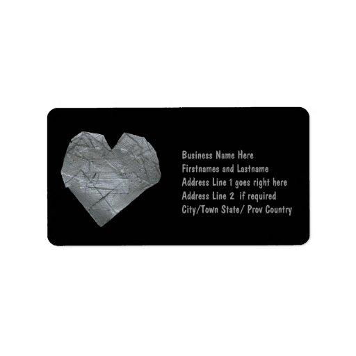Heart of Duct Tape Custom Address Labels