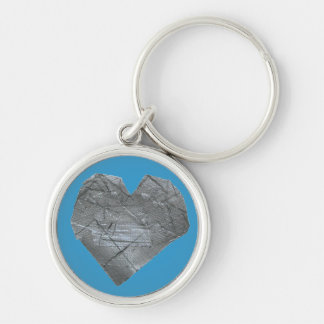 Heart of Duct Tape Silver-Colored Round Keychain