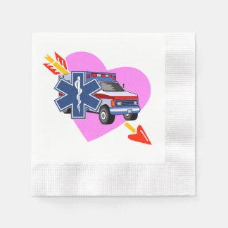 Heart of EMS Paper Napkin