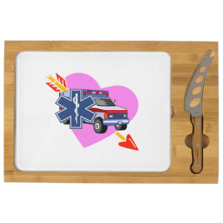 Heart of EMS Rectangular Cheeseboard