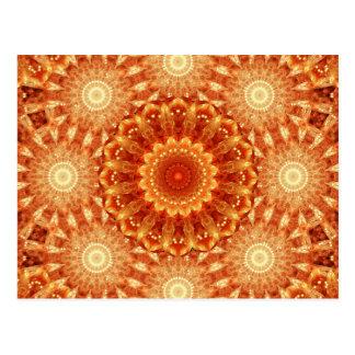 Heart of Fire Mandala Postcard