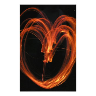 Heart of Fire Stationery Design