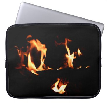Beach Themed heart of firee laptop sleeve