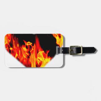 Heart of Flames Bag Tag