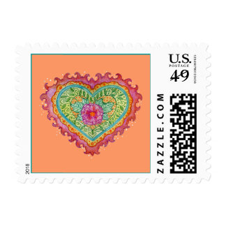 Heart of Flames Postage Stamp