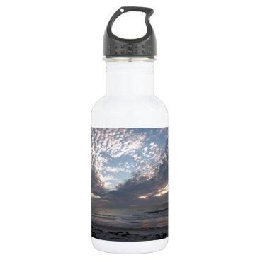 Beach Themed Heart of Florida's Sky Water Bottle