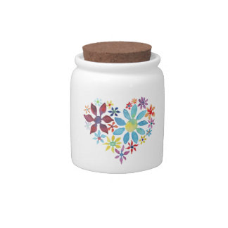 Heart of Flowers Candy Dish